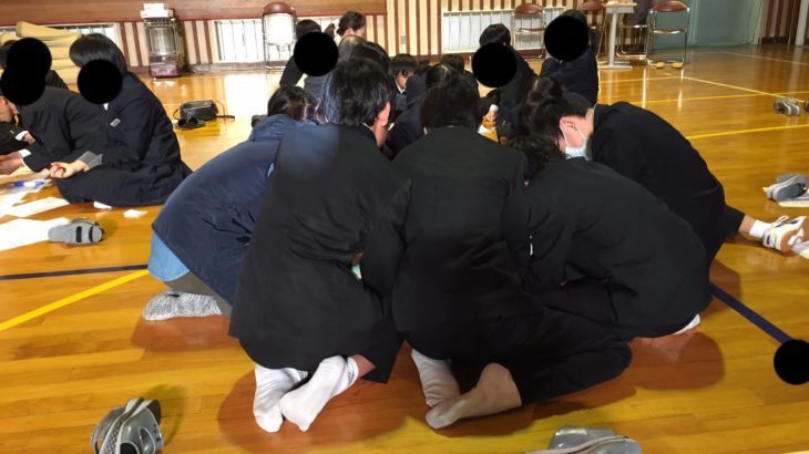 【八雲住民大会】 中学生と避難所運営ゲームはできるのか?